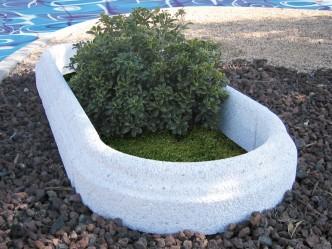 Aros o cercos con relieve para jardín