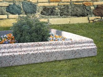 Escuadras de granito para jardín
