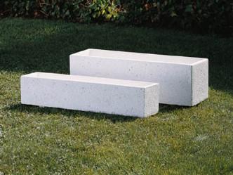Jardinera lisa rectangular para jardín