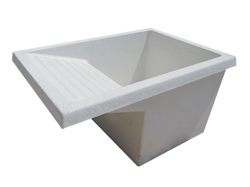 Lavadero de cemento blanco o gris