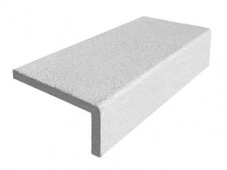 Peldaño recto de piedra artificial
